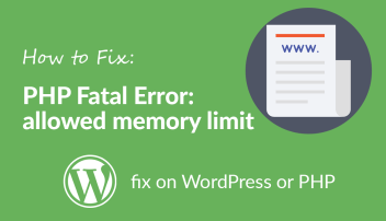 Fix for PHP Fatal Error: Allowed memory size error
