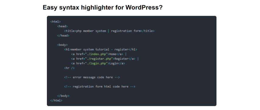 easy syntax highlighter wordpress