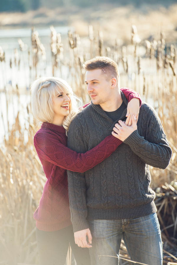Enchanted Winter Woods Engagement From LEstelle
