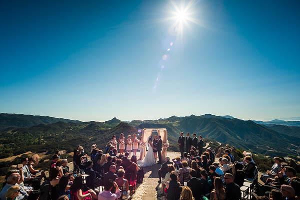 Tuscan Inspired Hilltop Villa Wedding In Malibu Hey