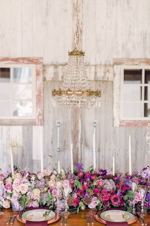 Pewter And Plum Luxe Vintage Wedding Inspiration In