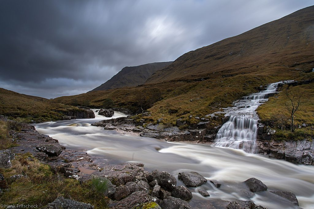 River Etive waterfall 4291