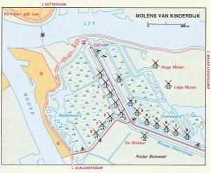 Kaart Kinderdijk