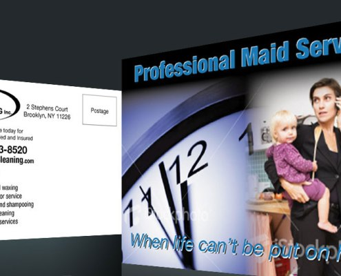 Postcard Design and Marketing Maid Cleaning Service