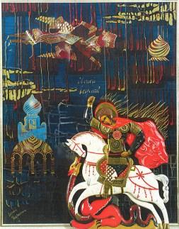 Ο Άγιος Γεώργιος, Μόσχα 1952, μικτή τεχνική, 100x80.