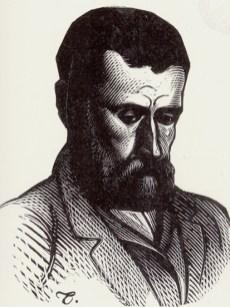 Portrait of Papadiamantis.