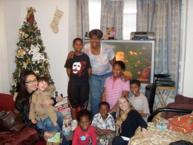 Just one of the many families that we help.