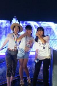 ホームステイにきた台湾の女の子とハウステンボス観光を楽しむ