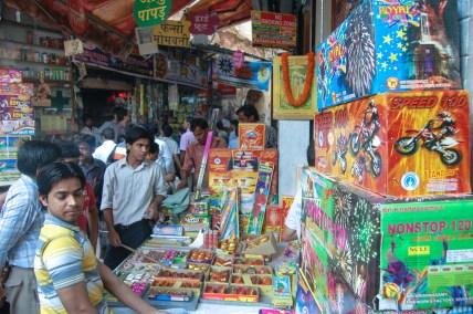 A view of Patake Wali Gali of Chandni Chowk