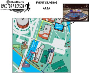 OU Race for a Reason staging area map