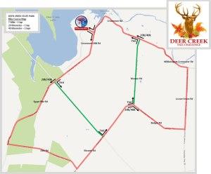 Deer Creek Fall Challenge Bike Map
