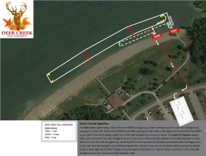 Deer Creek Fall Challenge Swim Map