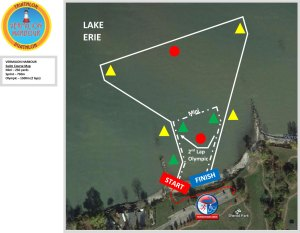 FIT Family Series Vermilion Harbour - Swim course map
