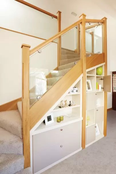 Storage Space Under Stairs Living Room Storage Ideas House Garden