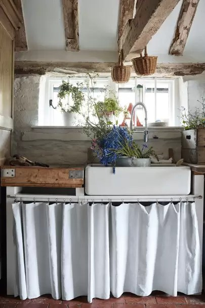 curtains instead of cabinets