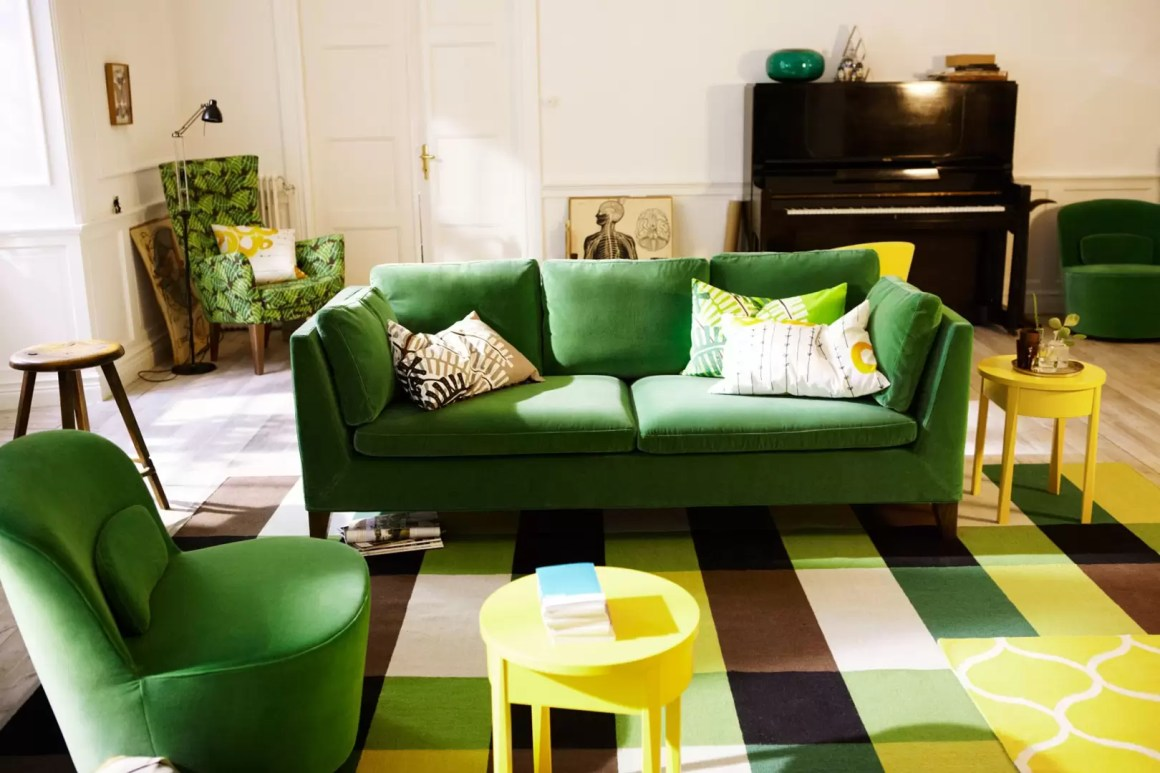 green sofa - living room design ideas & pictures - decorating ideas