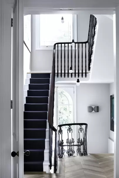 Stylish Stair Runner Carpet Ideas House Garden | Stairs With Carpet In The Middle | Runner Corner | Laminate | Contemporary | Run On Stair | Marble