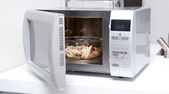 how to clean microwave tips for a