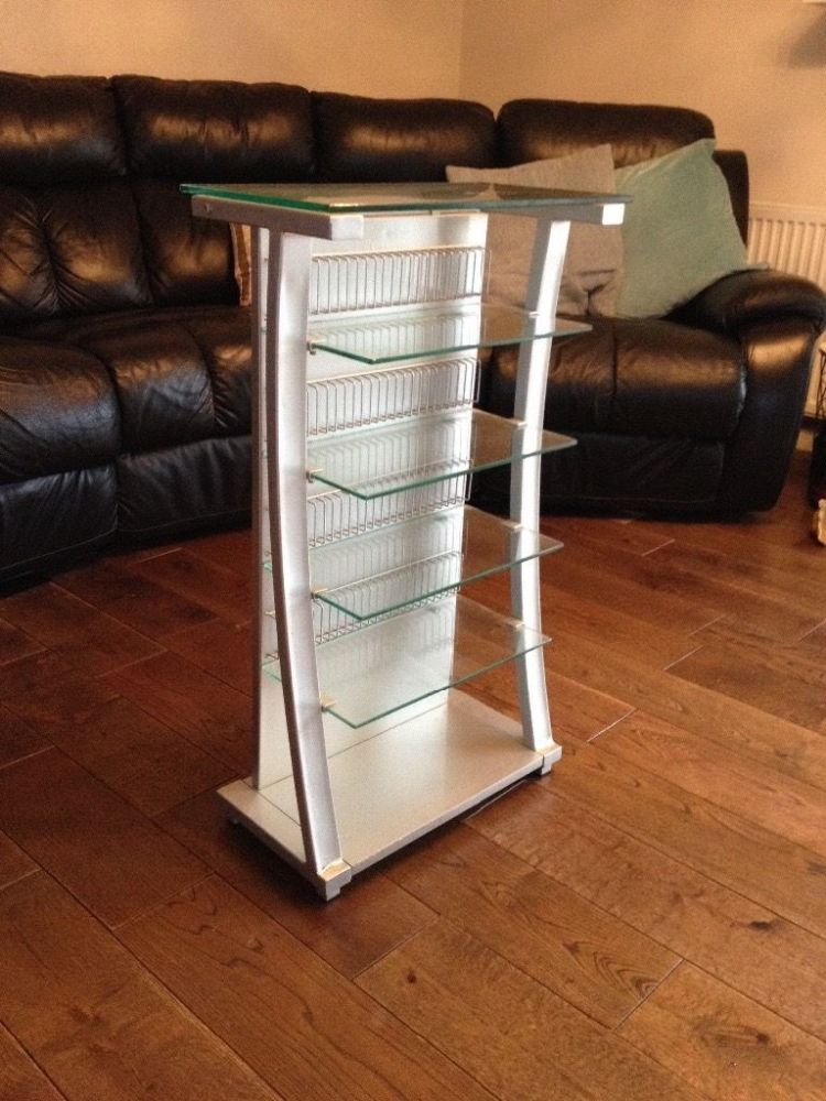 2 Tier Glass Tv Stand