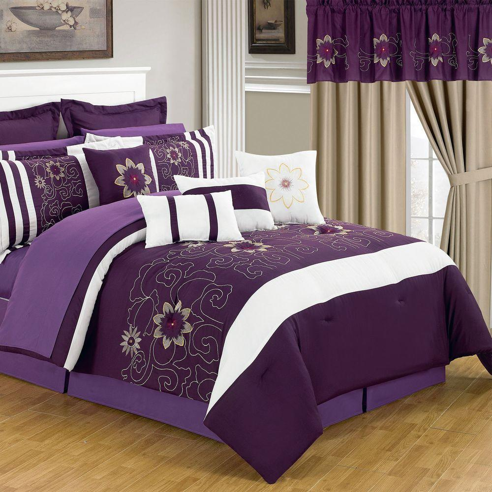 24 Piece Queen Comforter Set