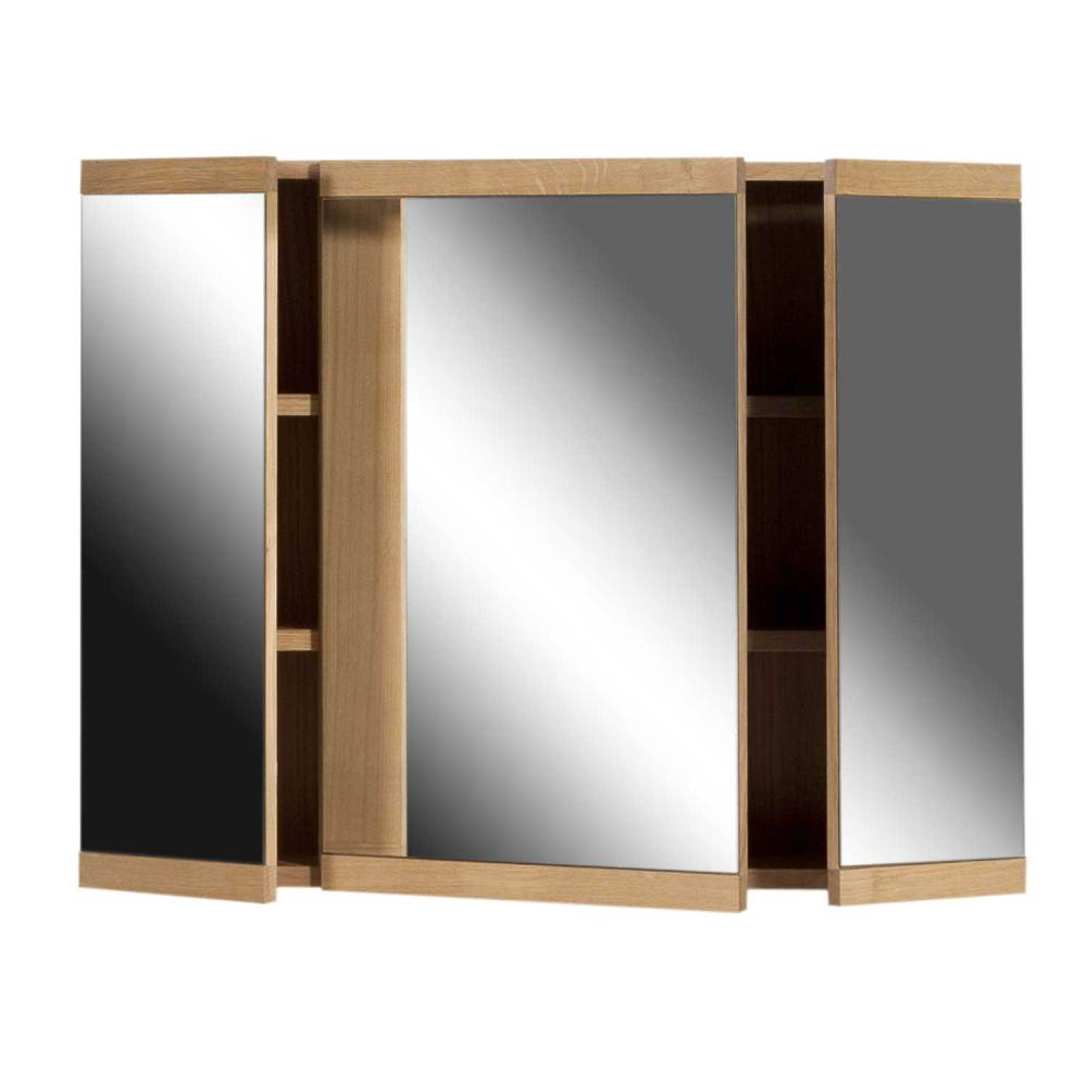 3 Door Mirrored Bathroom Cabinet