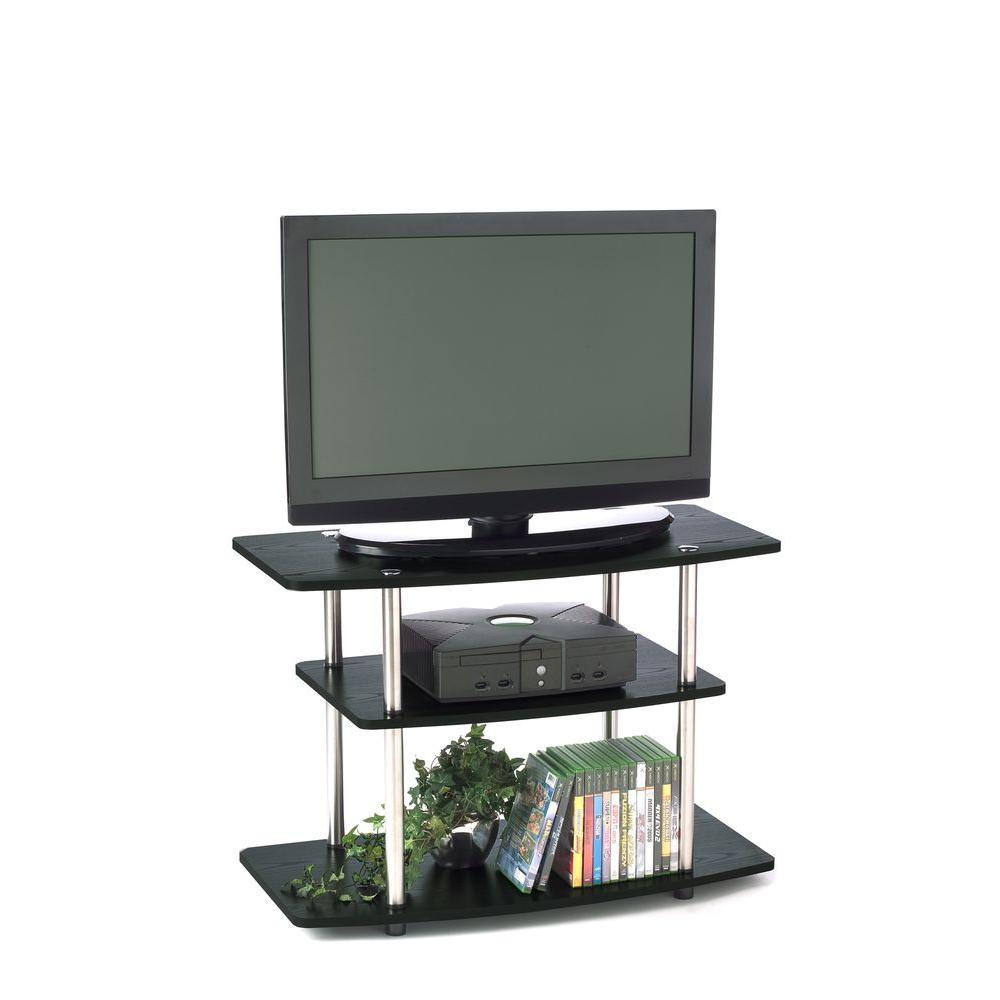 3 Tier Tv Stand Black