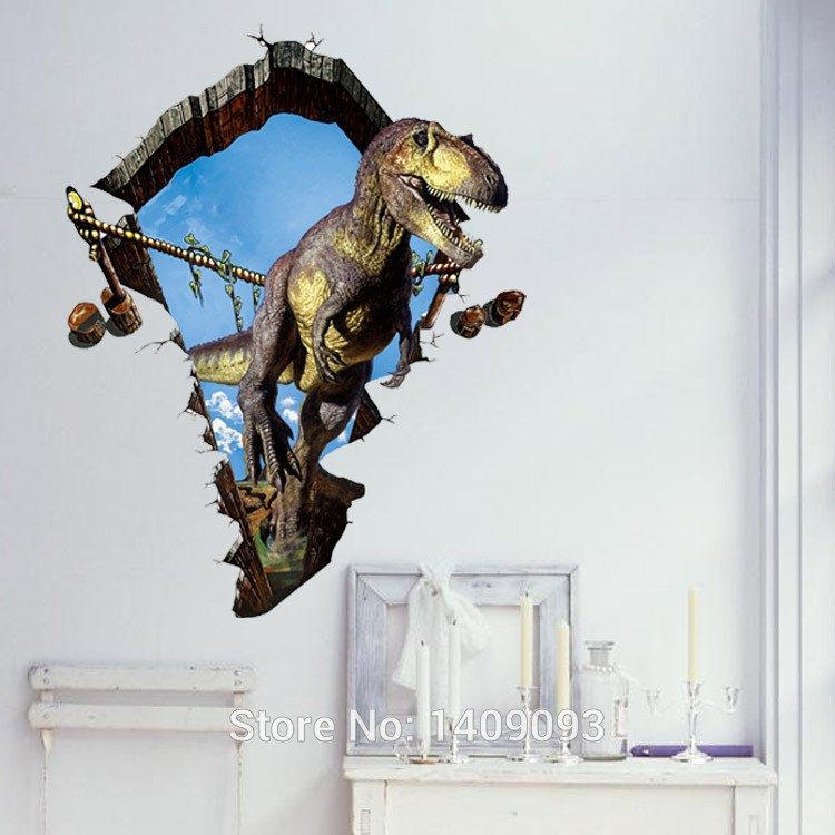 3d Dinosaur Wall Decals