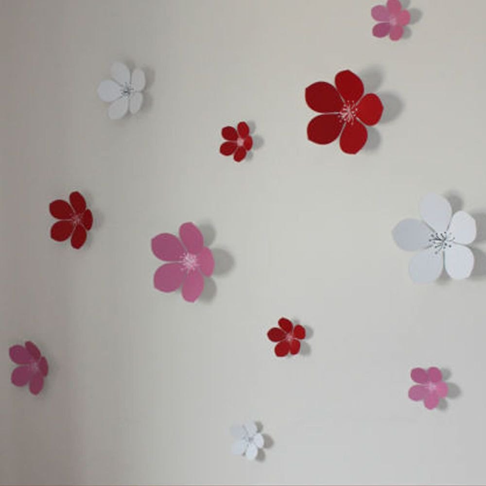 3d Flower Wall Decals