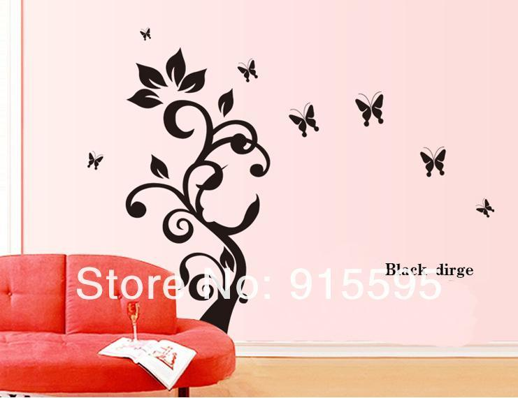 3d Wall Decals Flowers And Butterflies