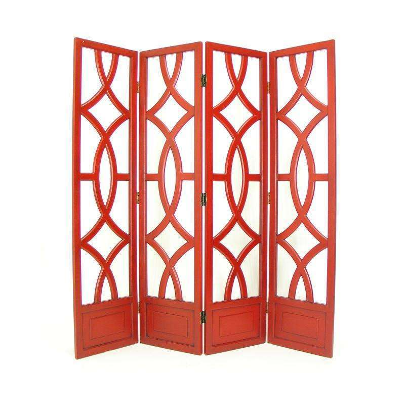 4 Panel Room Divider Screen