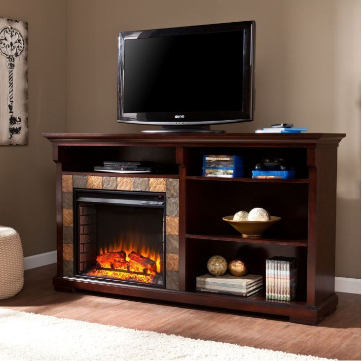 60 In Tv Stand With Fireplace
