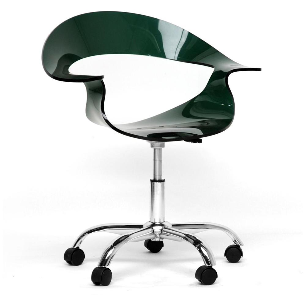 Acrylic Office Chair With Wheels