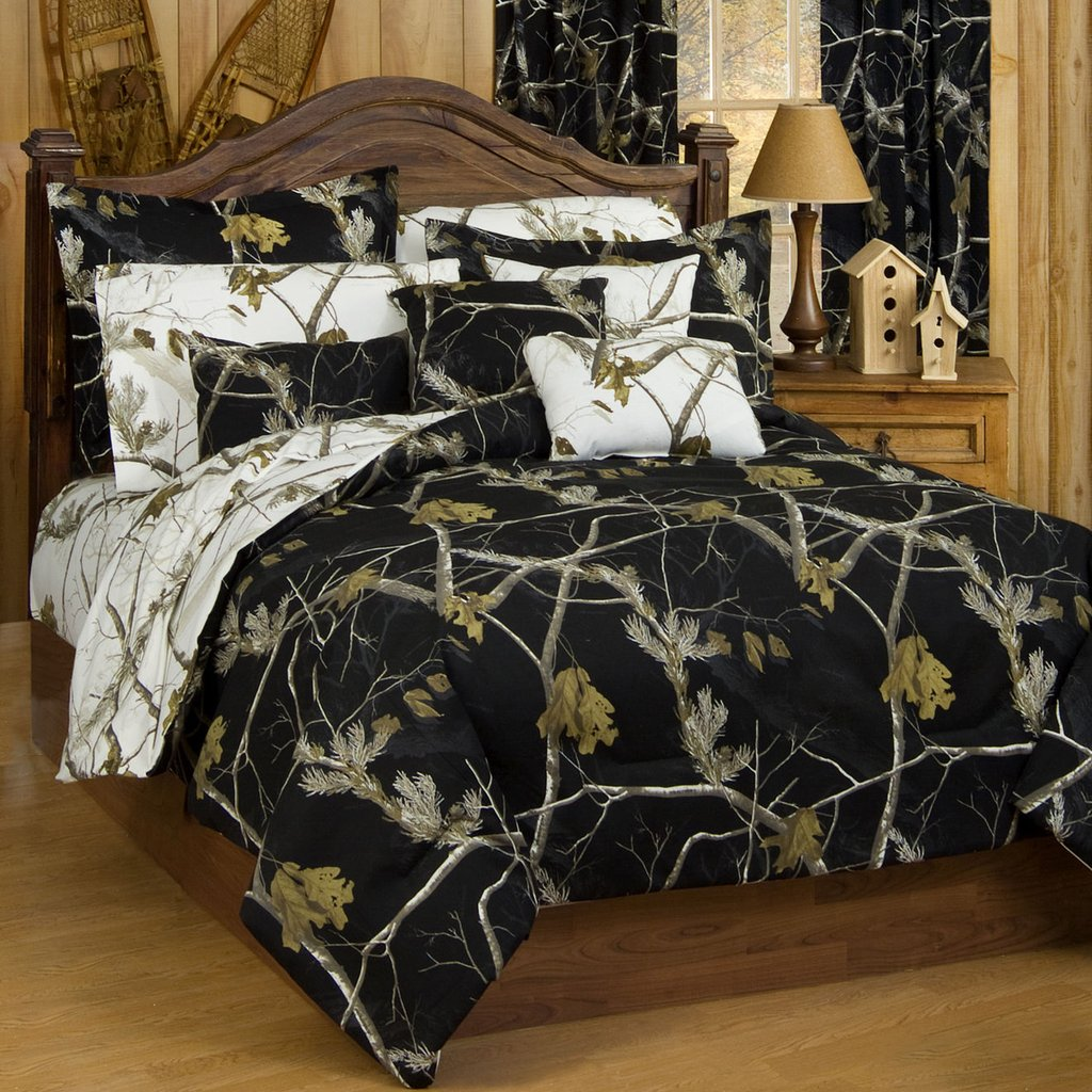 All Black Comforter Set Full