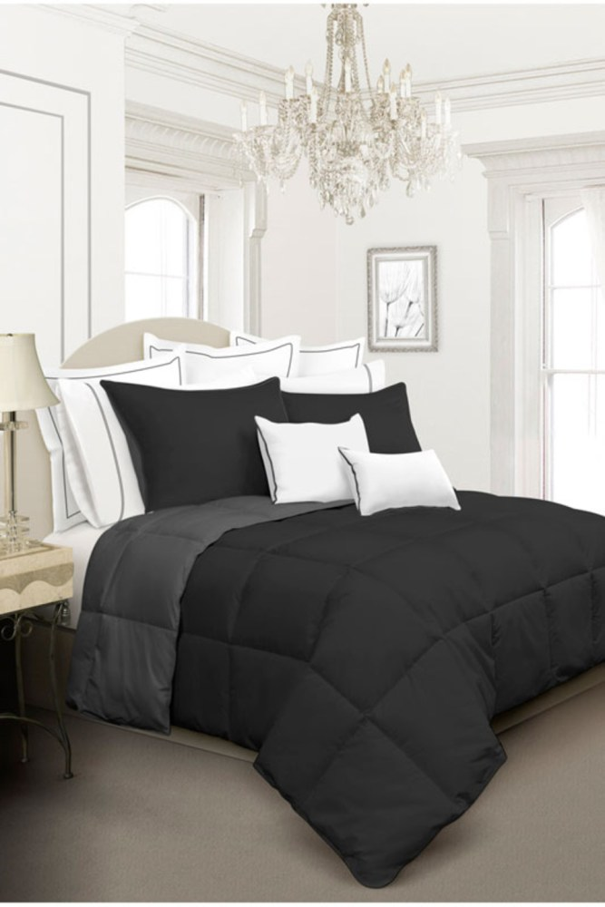 All Black Queen Comforter Set