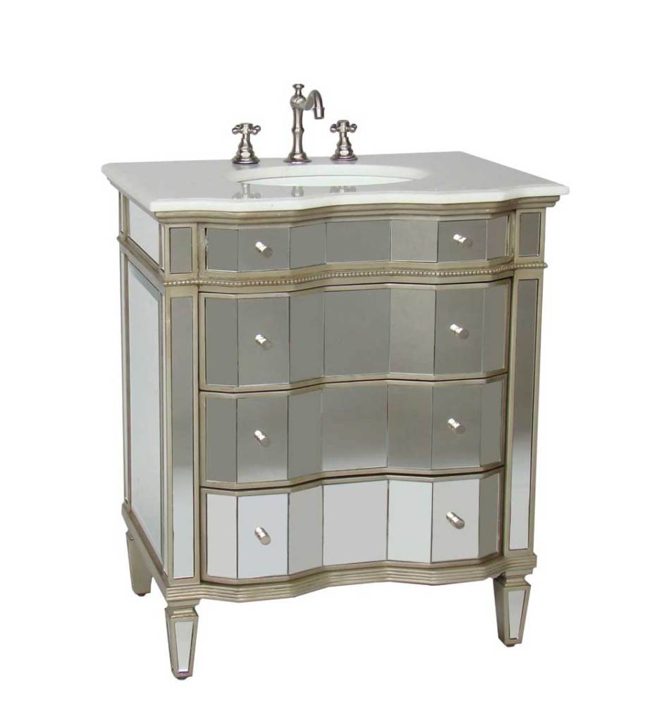 All Mirrored Bathroom Vanity