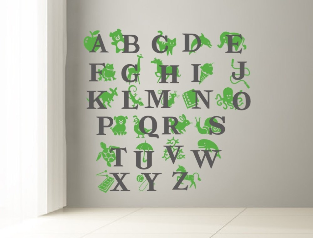 Alphabet Wall Decals For Playroom
