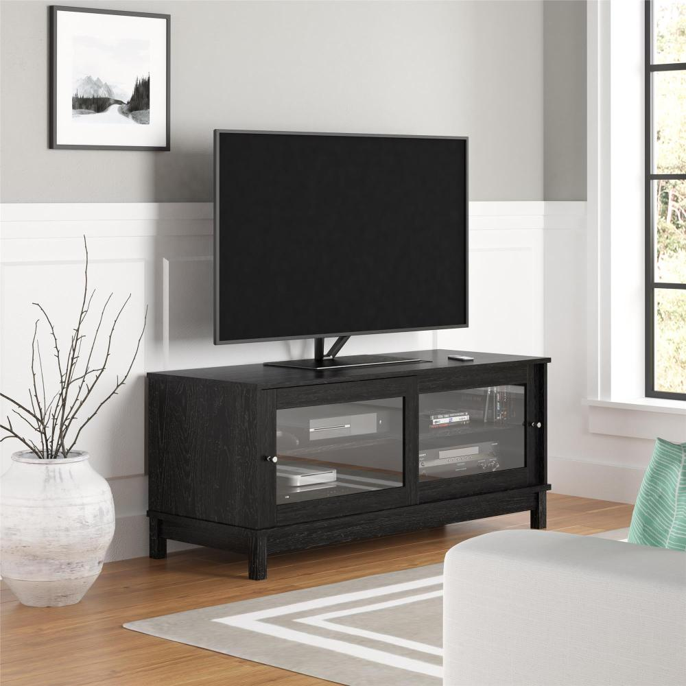 Ameriwood Tv Stand With Sliding Glass Doors
