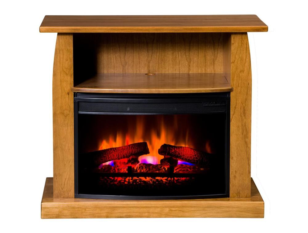 Amish Tv Stand With Fireplace