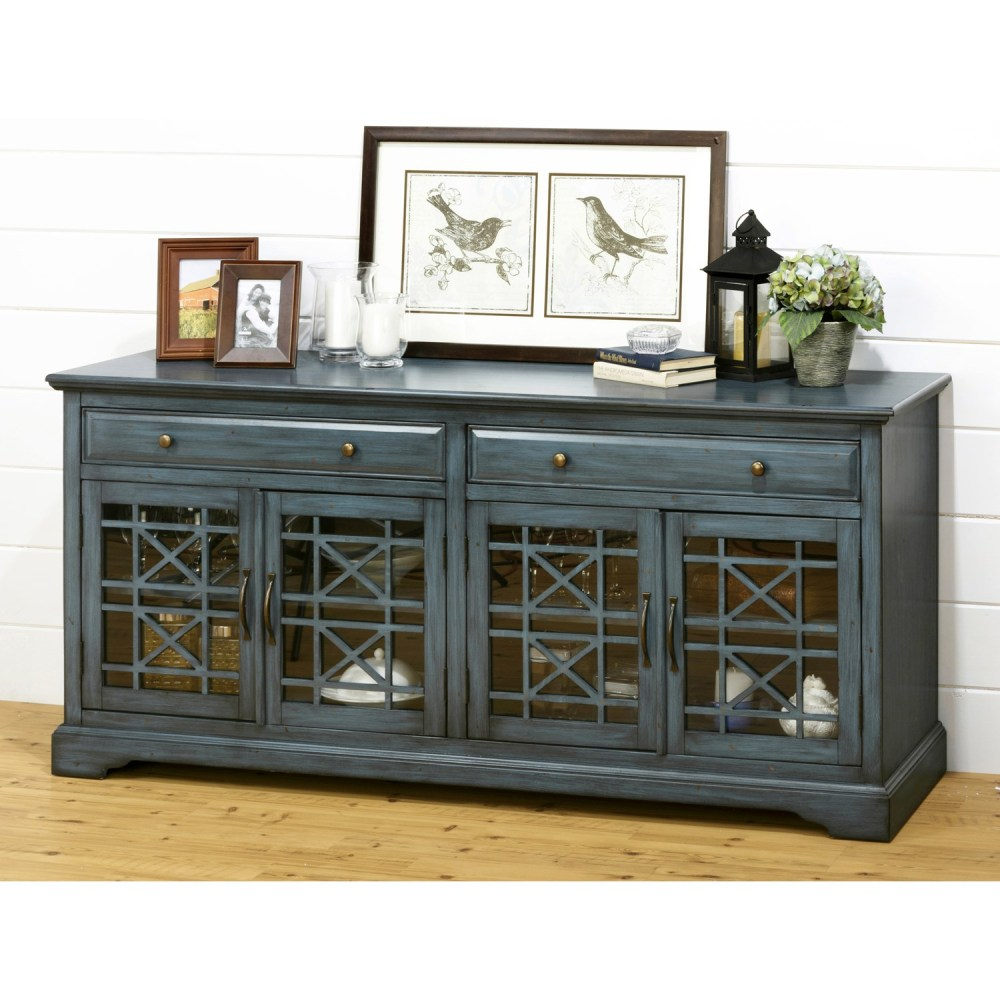 Antique Blue Tv Stand