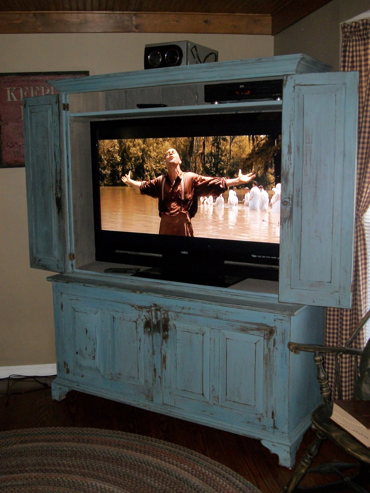 Antique White Tv Stand Flat Screen