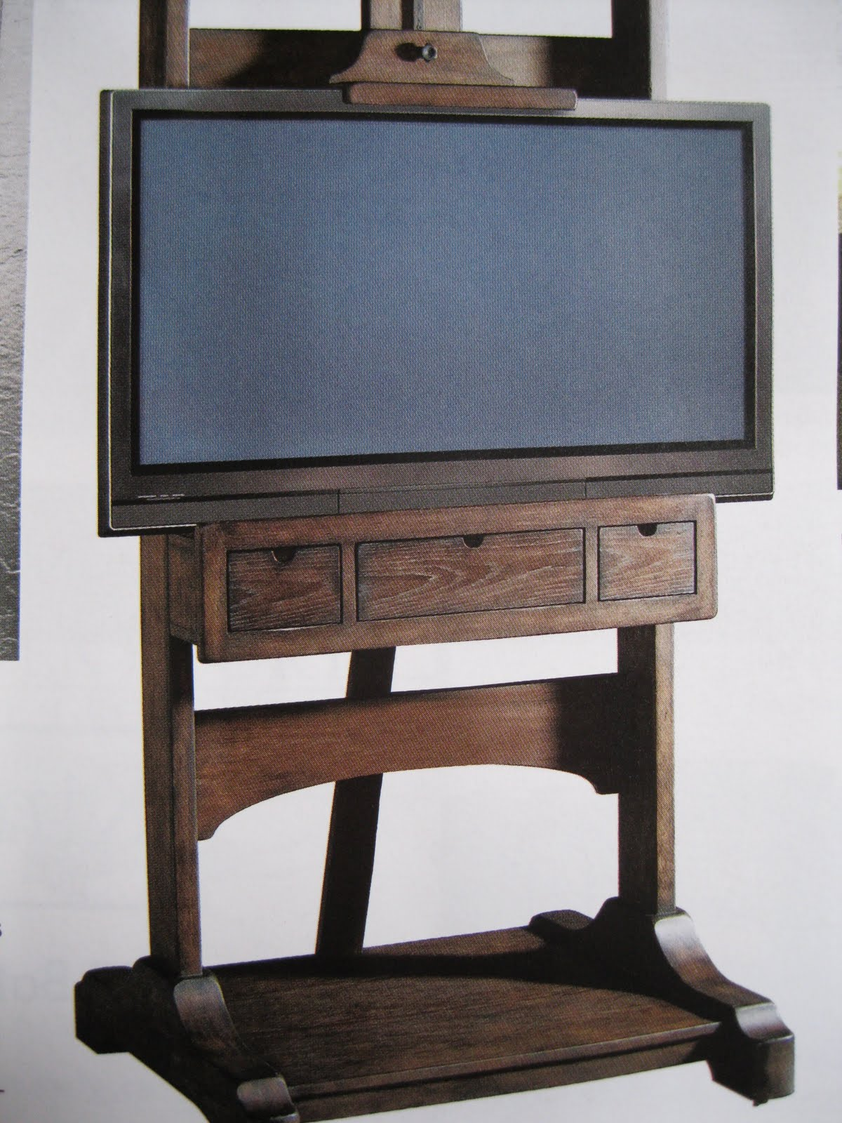 Artist Easel Tv Stand