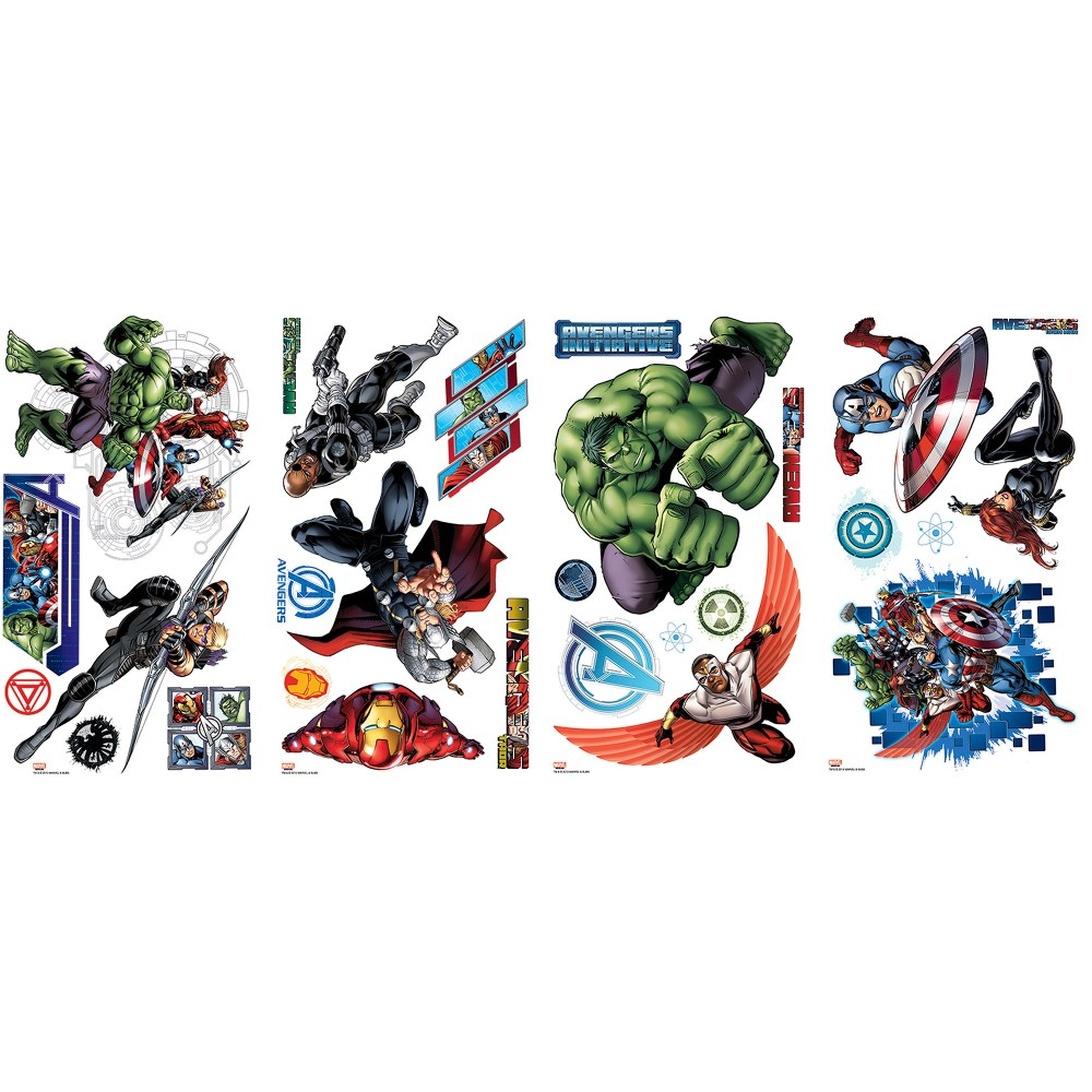 Avengers Wall Decals Walmart