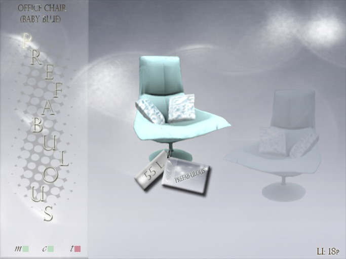 Baby Blue Office Chair