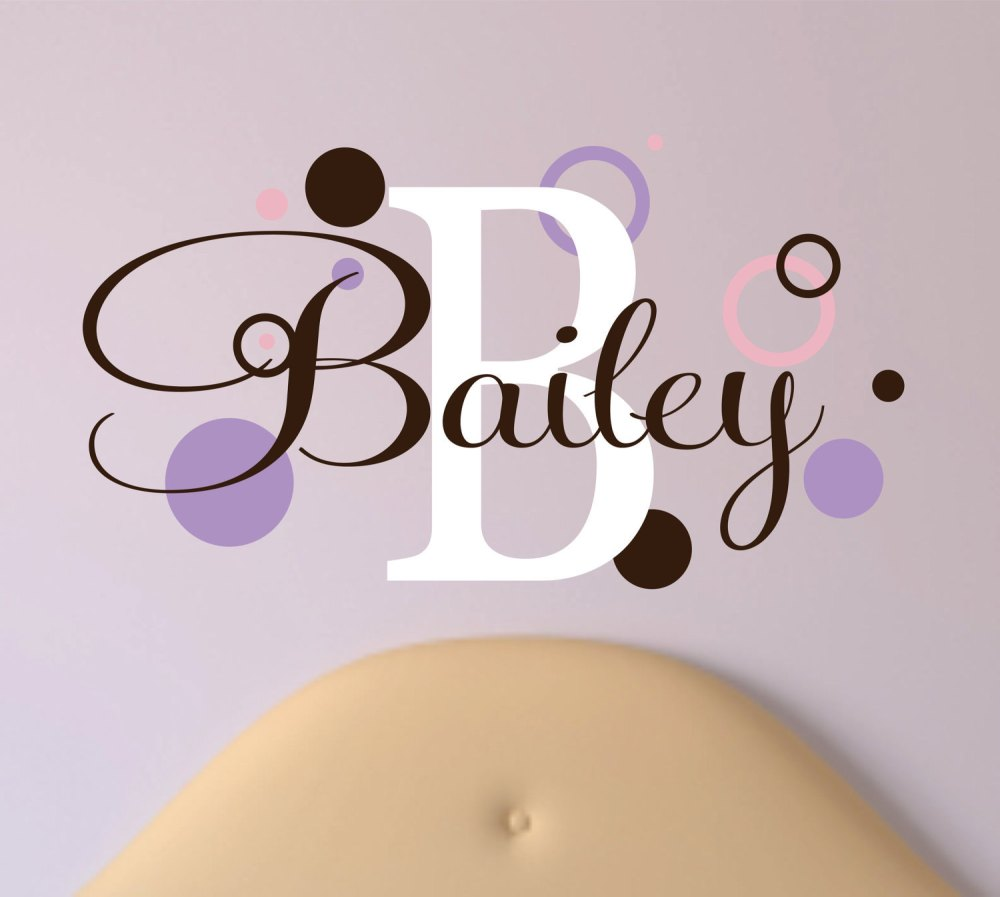 Baby Girl Name Wall Decals