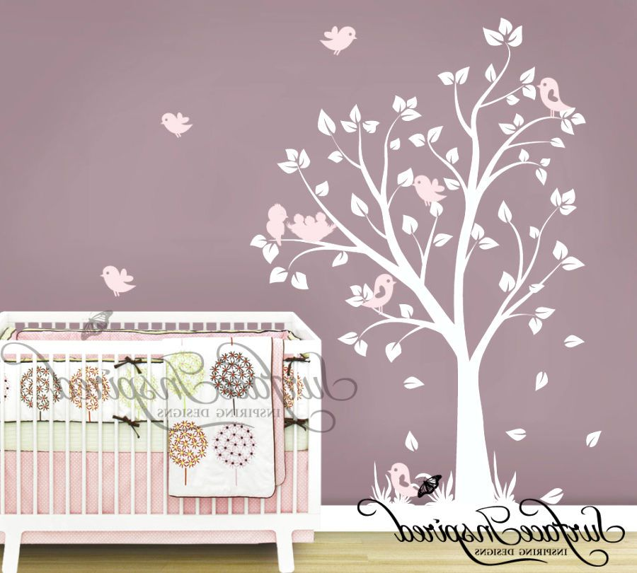Baby Girl Nursery Tree Wall Decals