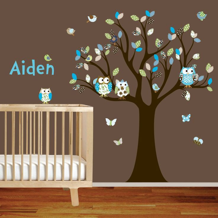 Baby Room Owl Wall Decals