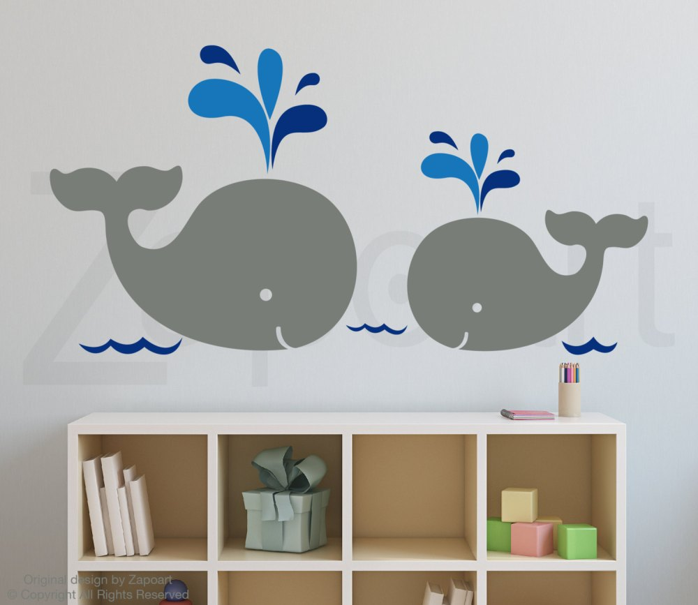 Baby Whale Wall Decals