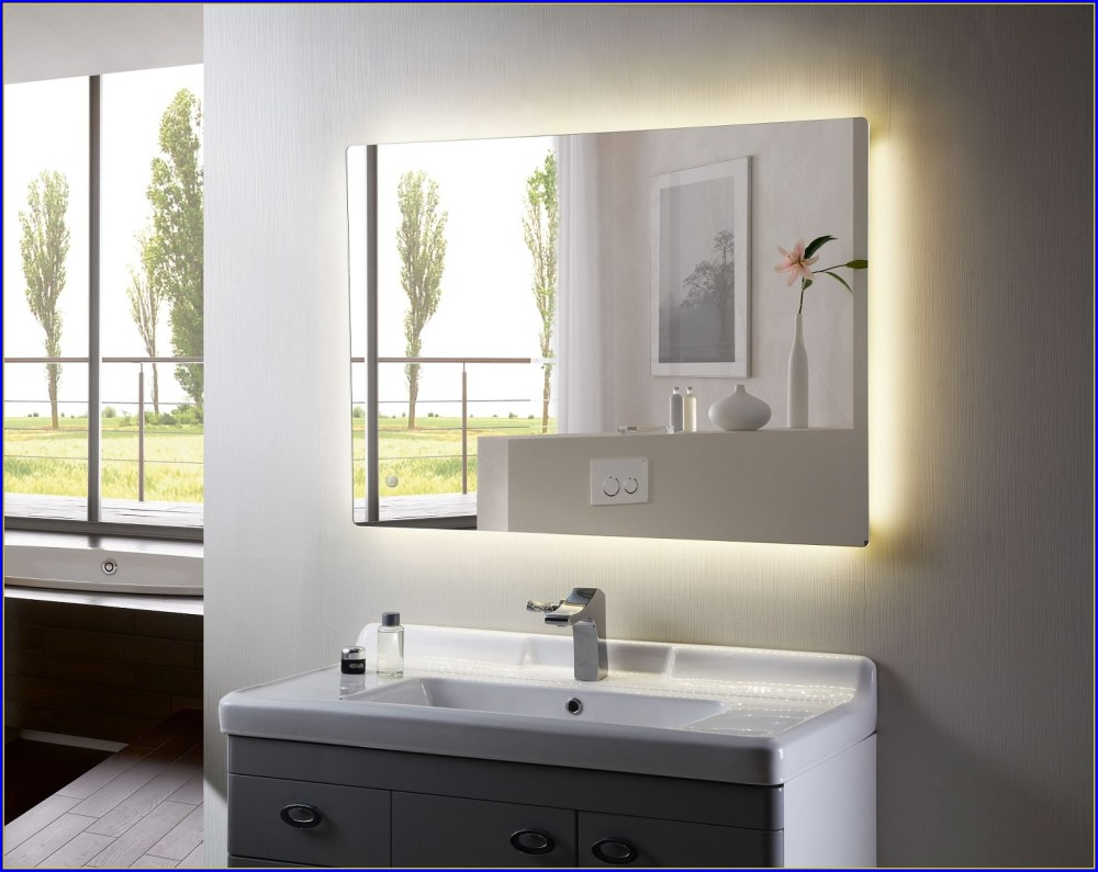 Backlit Bathroom Mirror Demister