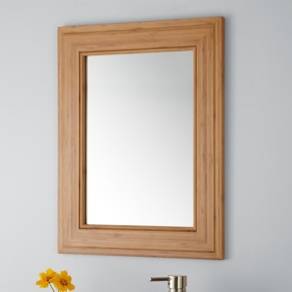 Bamboo Framed Mirror Bathroom
