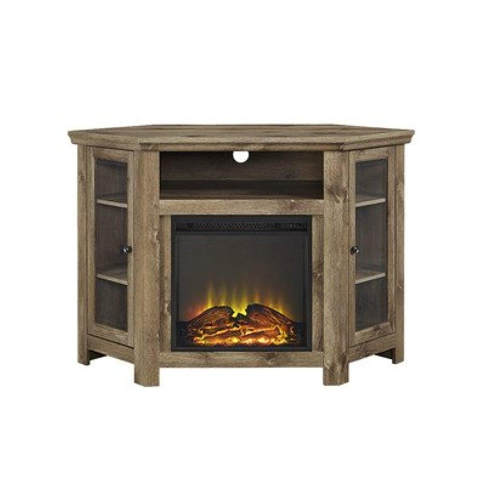 Barnwood Tv Stand With Fireplace